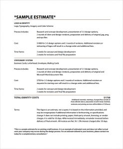 Business estimate template charlotte clergy coalition similar posts accmission Images