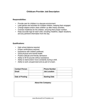 Job Descriptions Templates