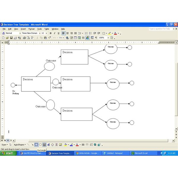 Download a Decision Tree Template for MS Word