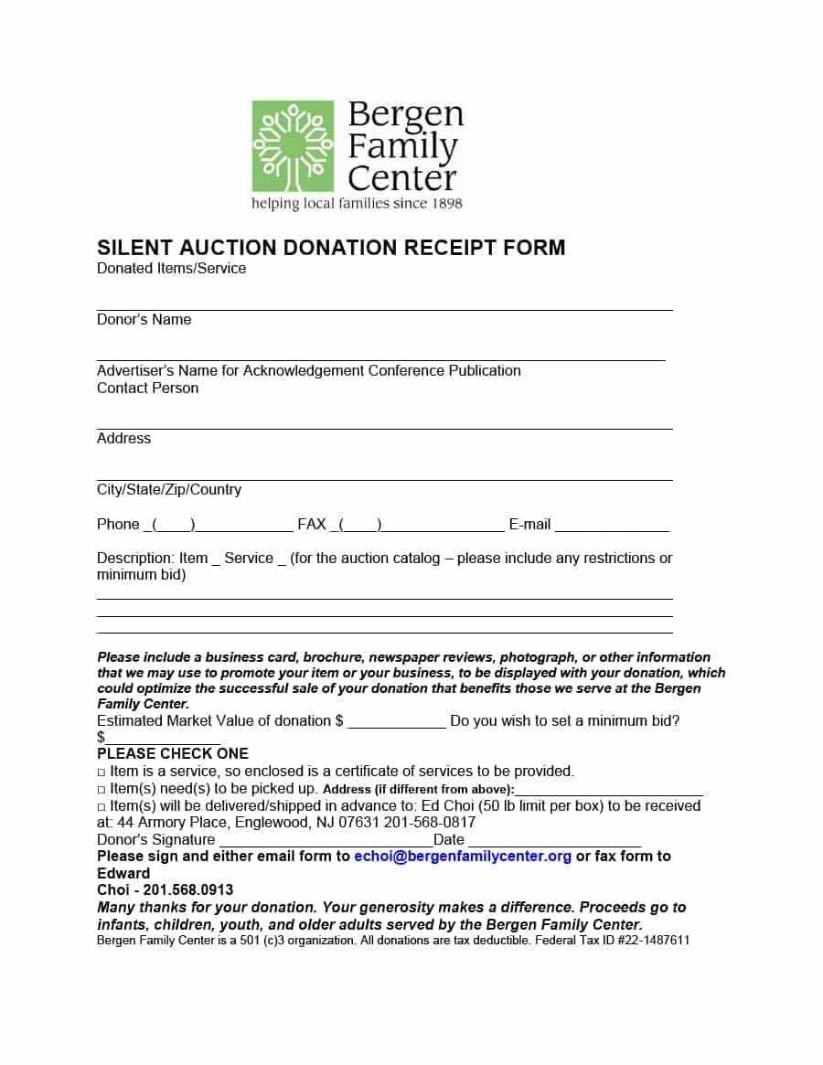 Donation Receipt Letter Template | charlotte clergy coalition