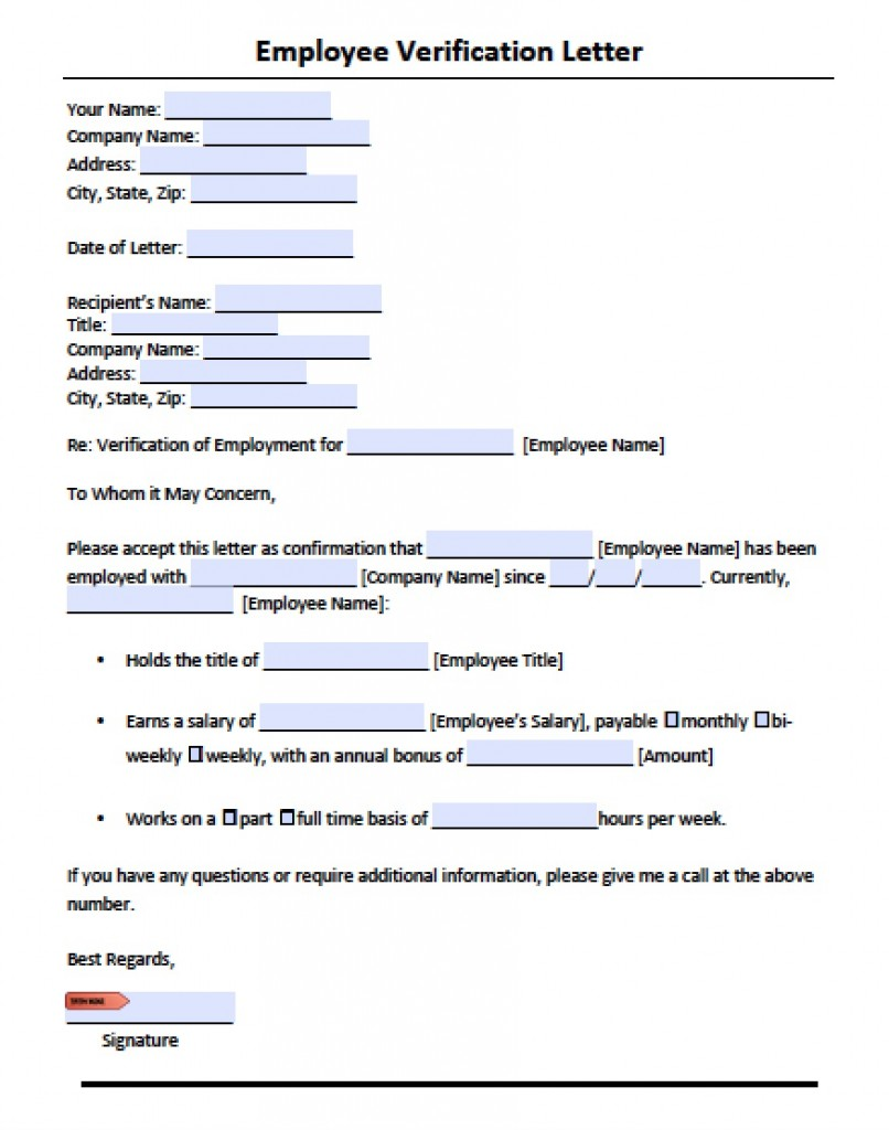 Employment verification letter pdf charlotte clergy coalition download employment verification letter template with sample spiritdancerdesigns Choice Image