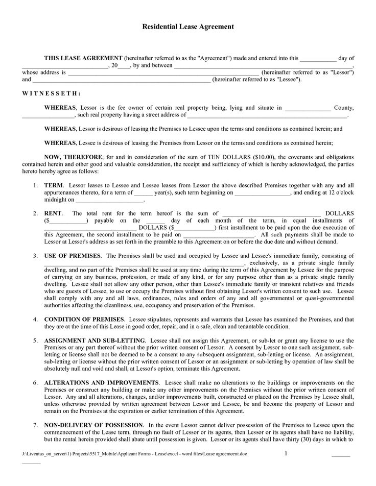 Free Downloads Rental Agreements Charlotte Clergy Coalition