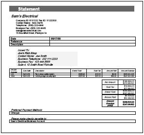 Rental Billing Statement Template