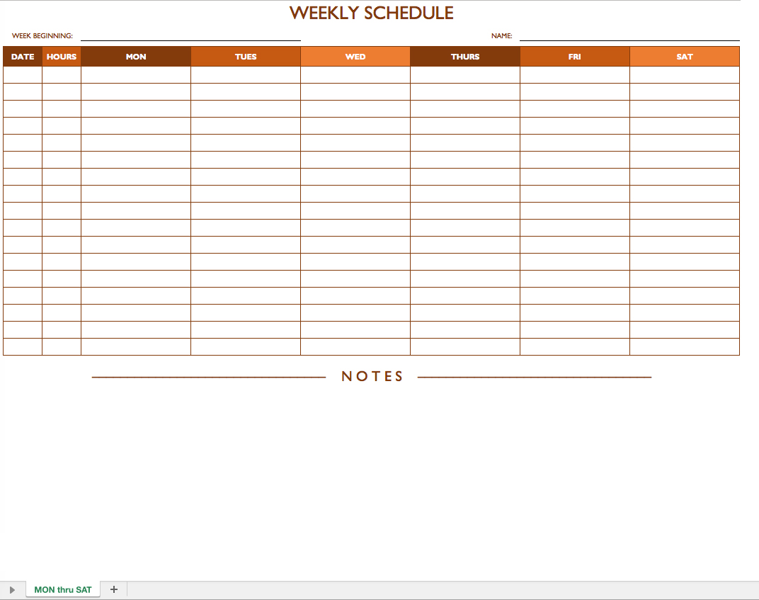 Job Schedule Templates   7+Free Word, PDF Documents Download