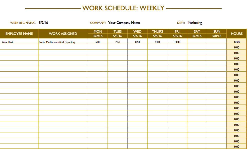 job schedule template charlotte clergy coalition
