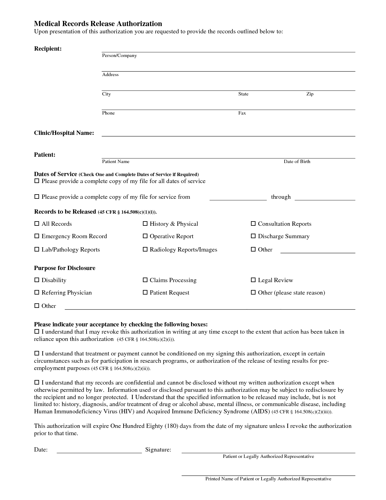 medical record templates charlotte clergy coalition