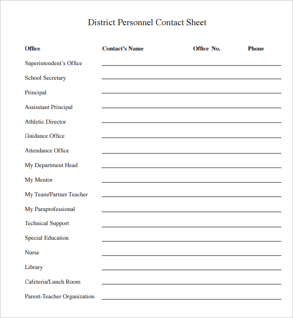 Personal Contact Template | charlotte clergy coalition