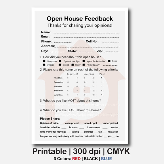 7+ Sample Real Estate Feedback Forms   Free Sample, Example
