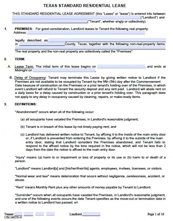 Rent Contract Templates | Rent Agreement Doc Charlotte Clergy Coalition