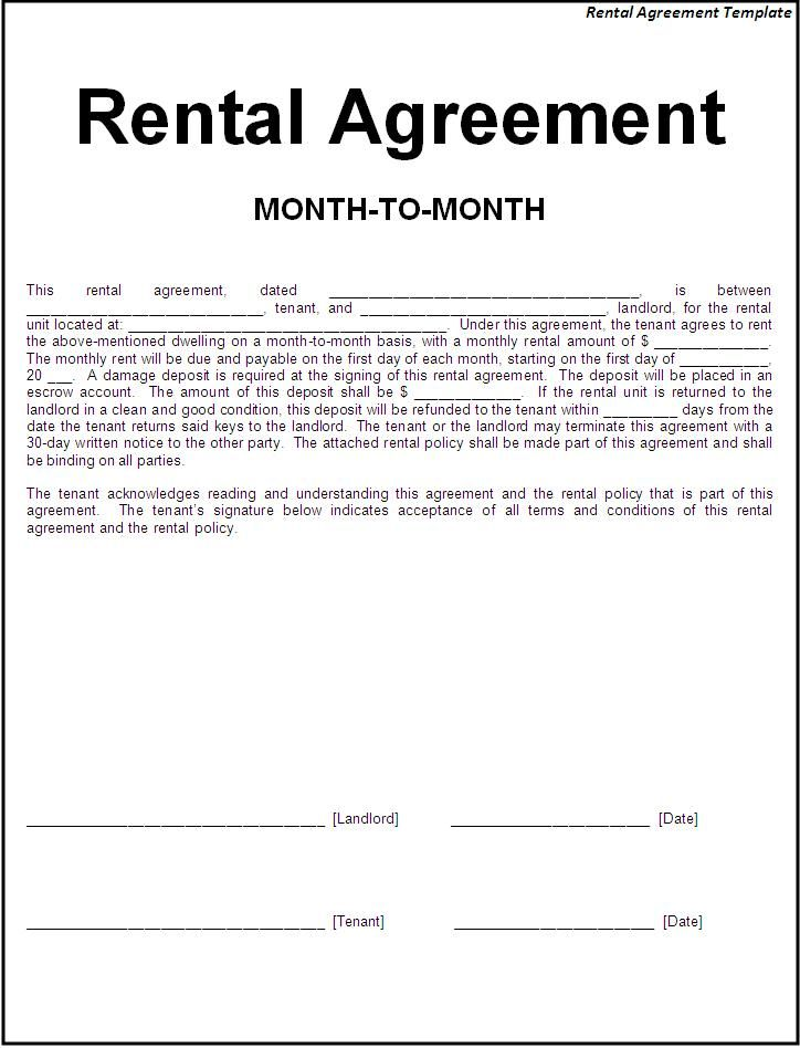 Renters Agreement Template Charlotte Clergy Coalition