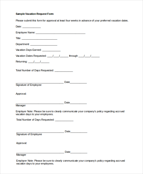 Vacation request form pdf charlotte clergy coalition vacation leave form template kleoachfix maxwellsz